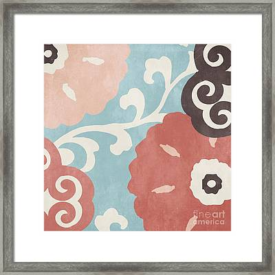 Umbrella Skies I Suzani Pattern Framed Print