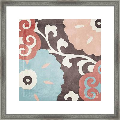 Umbrella Skies II Suzani Pattern Framed Print by Mindy Sommers