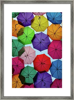 Umbrella Sky II Framed Print by Marco Oliveira