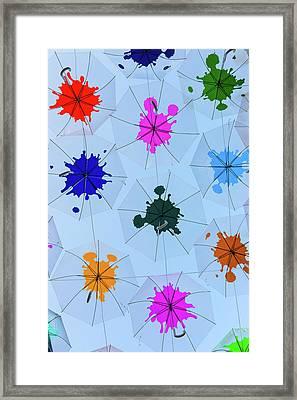 Umbrella Sky IIi Framed Print by Marco Oliveira