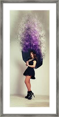 Umbrella Framed Print by Nichola Denny