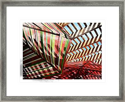 Umbrella Stipple Framed Print