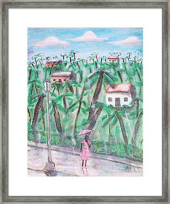 Umbrella Framed Print by Van Winslow