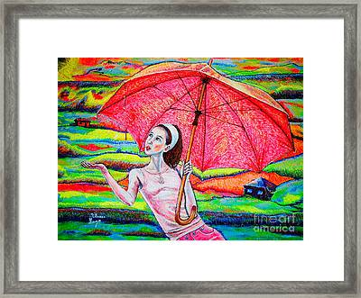 Umbrella.girl Framed Print by Viktor Lazarev