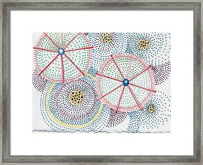 Umbrellas 3 Framed Print by Leslie Genser
