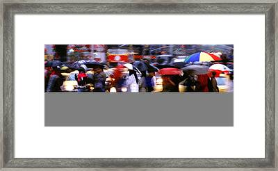 Umbrellas Framed Print by Brad Rickerby