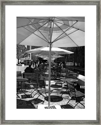 Framed Print featuring the photograph Umbrella's by Joanne Coyle