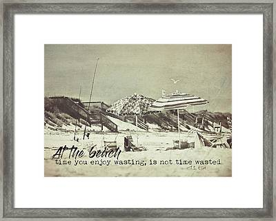 Umbrellas Quote Framed Print by JAMART Photography