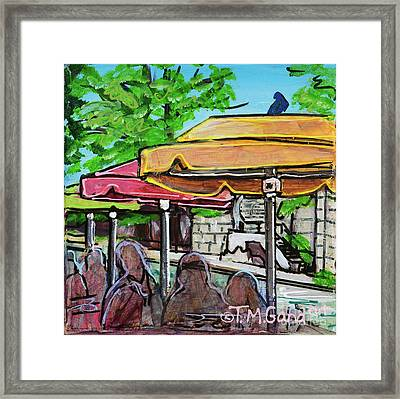 Framed Print featuring the painting Umbrellas by TM Gand