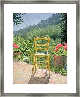 Umbrian Chair Framed Print by Ditz