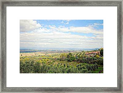 Umbrian View Framed Print
