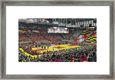 Umd Basketball Framed Print by Christopher Kerby