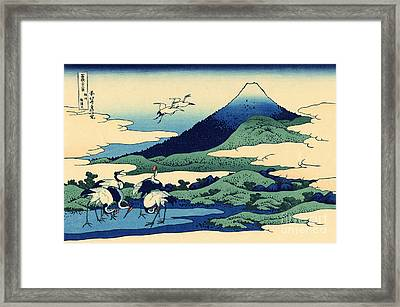Umegawa In Sagami Province, One Of Thirty Six Views Of Mount Fuji Framed Print