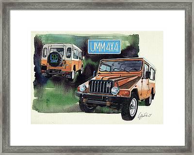 Umm Cournil 4x4 Framed Print by Yoshiharu Miyakawa