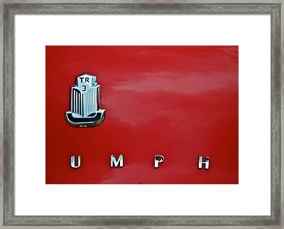 Umph Framed Print