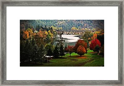 Umpqua Bridge In The Fall Framed Print by Katie Wing Vigil