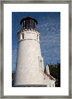 Framed Print featuring the photograph Umpqua Lighthouse by Carol Grimes