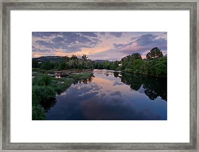 Umpqua River At Sunset Framed Print by Greg Nyquist