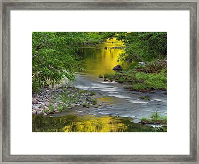 Umpqua River Light Framed Print by Leland D Howard