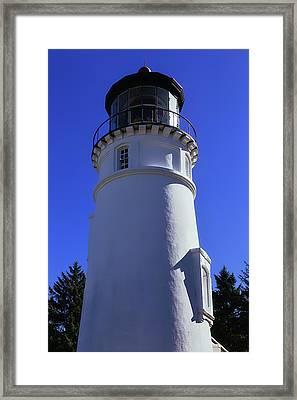 Umpqua River Lighthouse Framed Print by Garry Gay