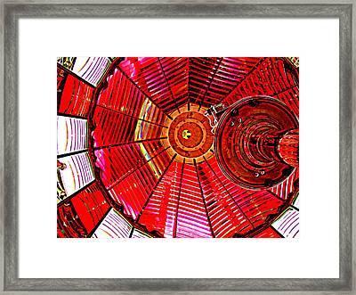 Umpqua River Lighthouse Lens In Hdr Framed Print