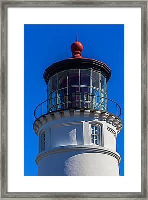 Umpqua River Lighthouse Oregon Coast Framed Print by Garry Gay