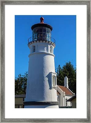 Umpqua River Lighthouse Oregon Framed Print by Garry Gay