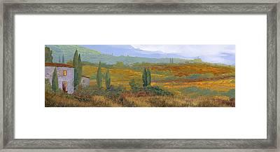 un altro pomeriggio in Toscana Framed Print by Guido Borelli