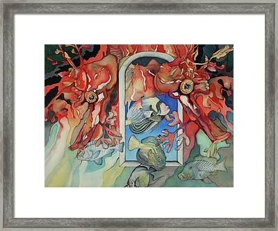 Un Autre Monde Framed Print by Liduine Bekman