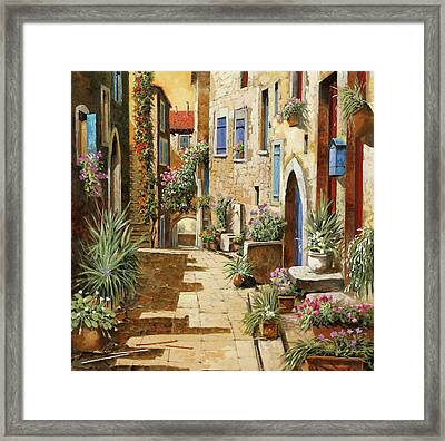 Un Bell'interno Framed Print by Guido Borelli