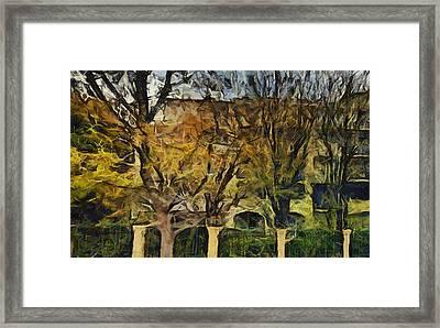 Un Cheteau Dans Le Paradis - Two Of Two  Framed Print by Sir Josef - Social Critic -  Maha Art