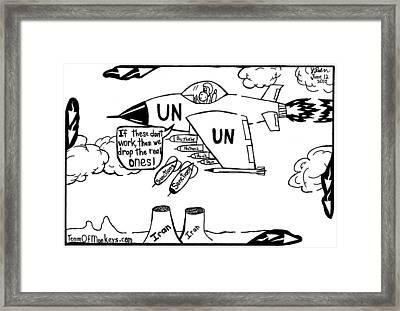 Un Iran Sanctions By Yonatan Frimer Framed Print