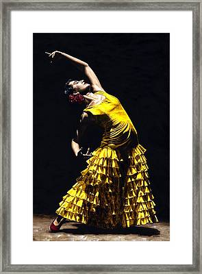 Un Momento Intenso Del Flamenco Framed Print by Richard Young