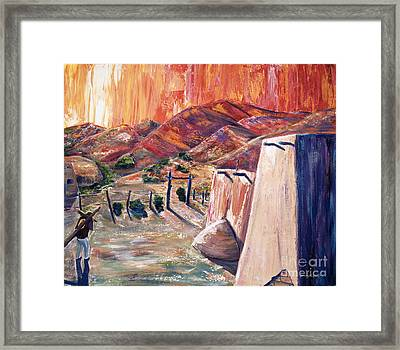 Un Penitente Framed Print by George Chacon