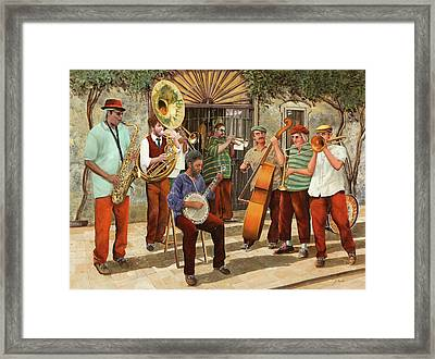 Un Po' Di Jazz Framed Print by Guido Borelli