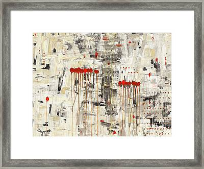 Framed Print featuring the painting Un Pour Tous by Carmen Guedez