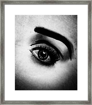 Un Regard Si Doux Framed Print by Melanie Cecconi