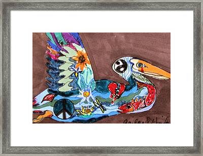 Framed Print featuring the drawing Un-rest by Barbara Giordano