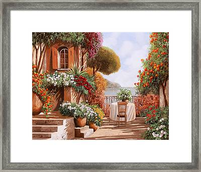 Una Sedia In Attesa Framed Print by Guido Borelli