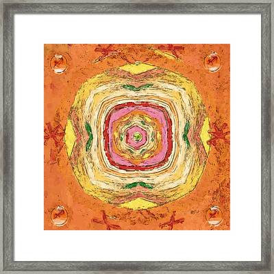 Framed Print featuring the painting Unbalanced Mandala by Shelley Bain