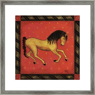 Framed Print featuring the painting Unbridled ... From The Tapestry Series by Terry Webb Harshman