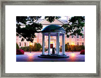 Unc Old Well Evening Framed Print