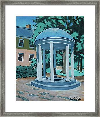 Unc Old Well Framed Print