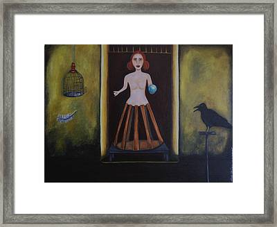 Uncaged Framed Print by Leah Saulnier The Painting Maniac