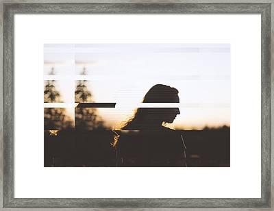Uncensored Jane Doe Framed Print by Feel The Glitch
