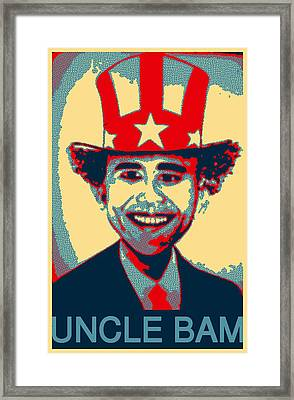 Uncle Bam Pop Framed Print by Teodoro De La Santa