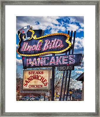 Uncle Bill's Pancakes Framed Print