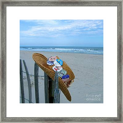 Uncle Carl's Beach Hat Framed Print