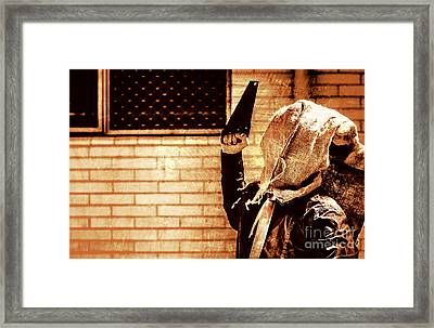 Uncle Chop Chop Framed Print