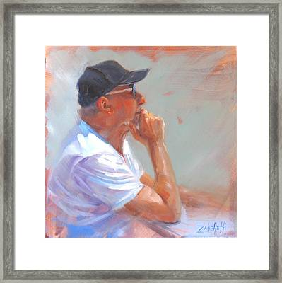 Uncle John Framed Print by Laura Lee Zanghetti
